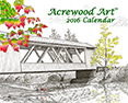 2016 Fine Art Wall Calendars, from original pen & ink by Wayne Bricco, Acrewood Art