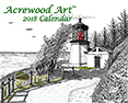 Fine Art Wall Calendars, from original pen & ink by Wayne Bricco, Acrewood Art