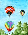 Morning Liftoff, from original pen & ink by Wayne Bricco, Acrewood Art