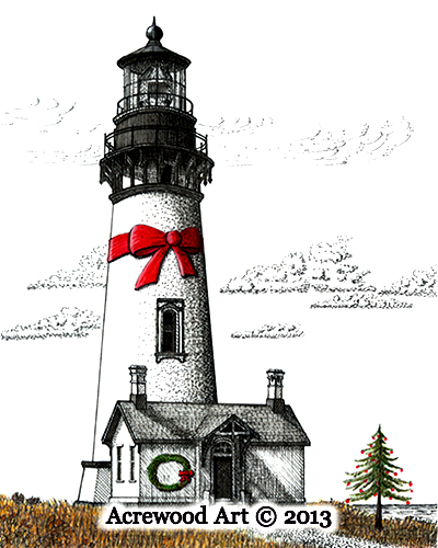 Oregon Coast Christmas by Wayne Bricco, Acrewood Art